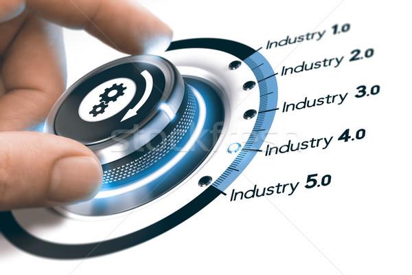 Industrie 40 prochaine industrielle révolution main Photo stock © olivier_le_moal