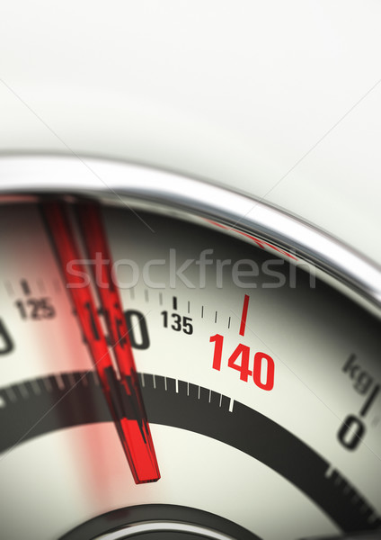 obesity concept, bathroom scale overloaded Stock photo © olivier_le_moal