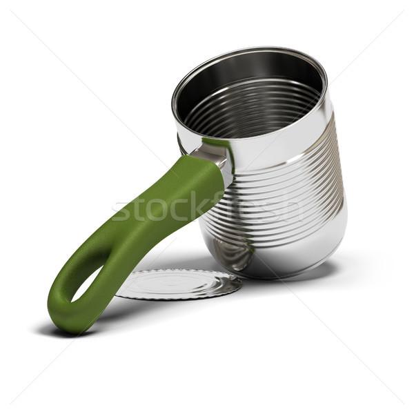 Gyorsételek egy étel konzervdoboz zöld fogantyú Stock fotó © olivier_le_moal