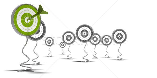 Megcélzott fehér zöld cél előtér szürke Stock fotó © olivier_le_moal