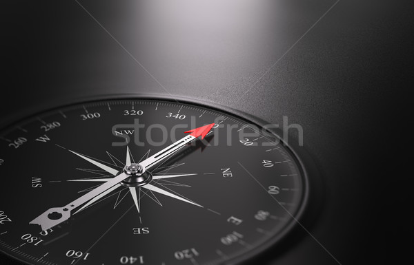 Business Orientation Background, Compass on the Left Stock photo © olivier_le_moal