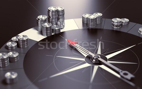Lucro bom investimento bússola preto Foto stock © olivier_le_moal