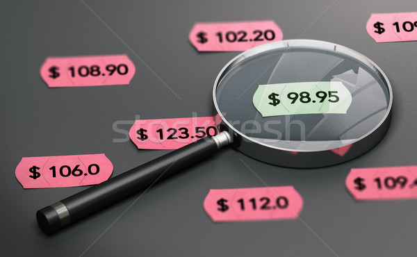 Shop Price Comparison Concept Stock photo © olivier_le_moal