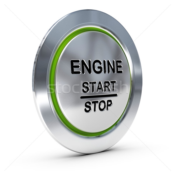 Car Keyless Ignition Button Stock photo © olivier_le_moal