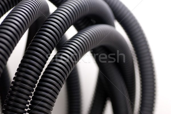 Stock photo: PVC corrugated pipe