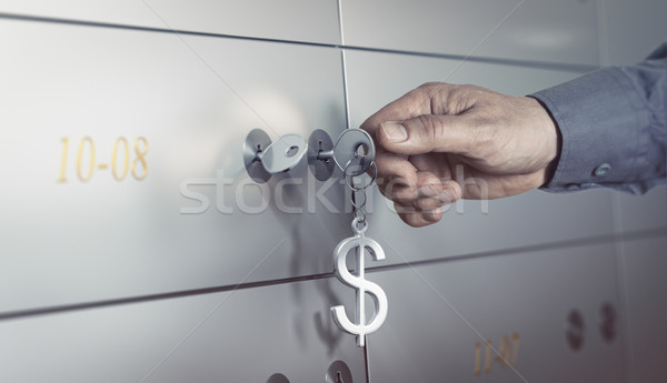 Bank Vault, Safe Deposit Box Stock photo © olivier_le_moal