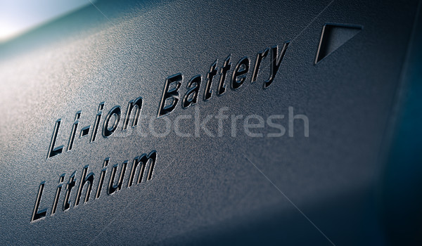 Lithium batterij pack 3d illustration tekst Stockfoto © olivier_le_moal
