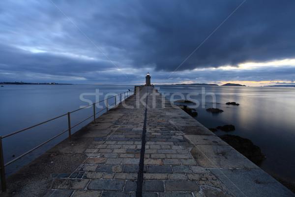 Liman kanal gün batımı seyahat tekne Stok fotoğraf © ollietaylorphotograp