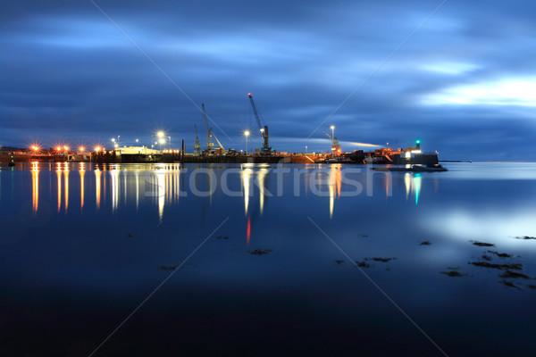 Liman kanal gökyüzü su deniz Stok fotoğraf © ollietaylorphotograp