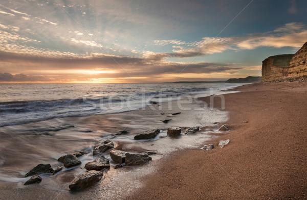 Stock fotó: Nyugat · tájkép · híres · part · sziklák · tengerpart
