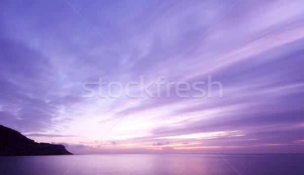 Tanımlama gökyüzü bulutlar gün batımı doğa Stok fotoğraf © ollietaylorphotograp