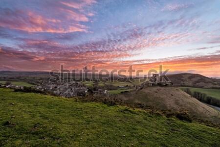 Tanımlama inşaat doğa güzellik kale Stok fotoğraf © ollietaylorphotograp