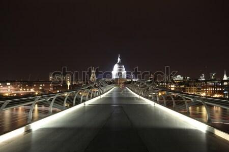 Köprü thames nehir banka gökyüzü Bina Stok fotoğraf © ollietaylorphotograp