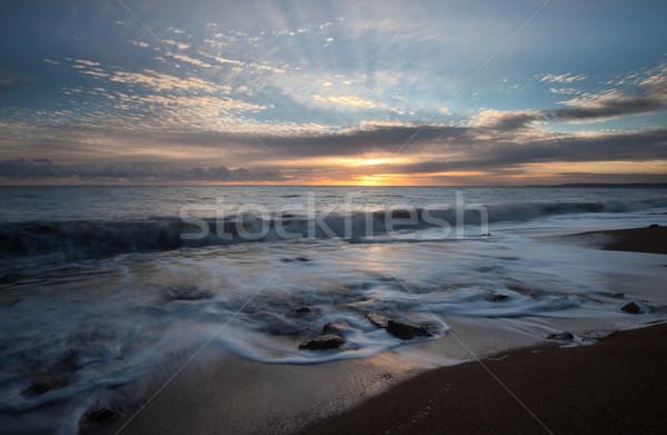 Nyugat tájkép híres part sziklák tengerpart Stock fotó © ollietaylorphotograp