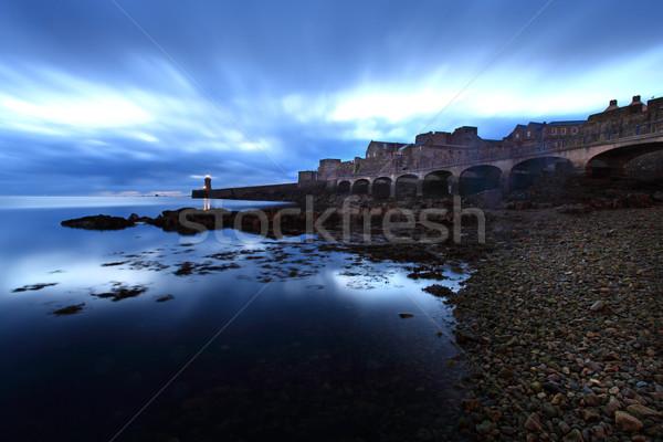 Kale ada Büyük Britanya kanal su Bina Stok fotoğraf © ollietaylorphotograp