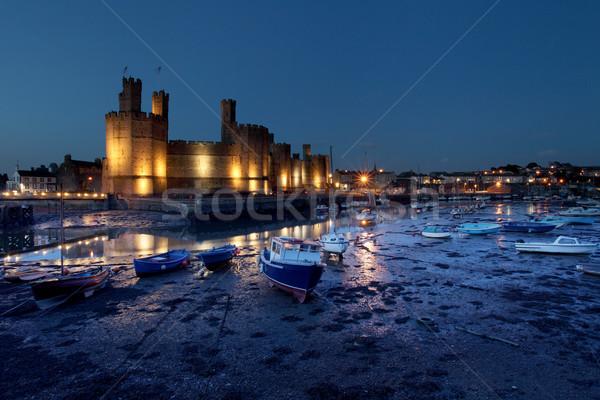 城 黄昏 北 ウェールズ 海 美 ストックフォト © ollietaylorphotograp
