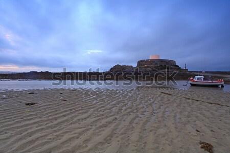 Kapı gün batımı ünlü kaya kemer su Stok fotoğraf © ollietaylorphotograp