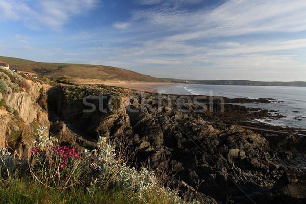 север побережье закат пляж юг Запад Сток-фото © ollietaylorphotograp