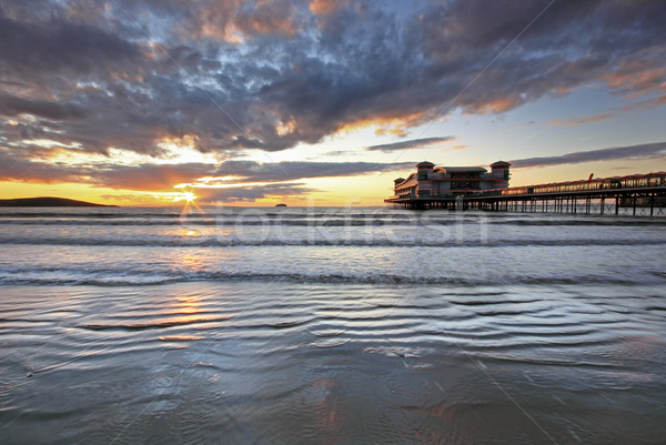 Weston Super Mare, Somerset, famous pier Stock photo © ollietaylorphotograp