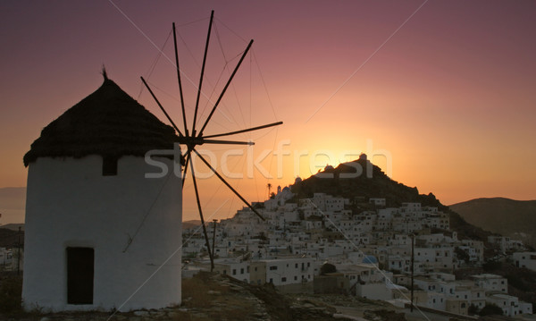 Ios town in Greece Stock photo © ollietaylorphotograp