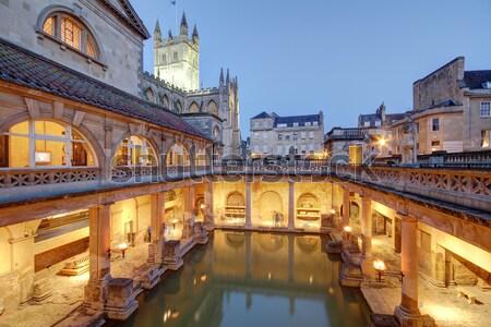 Old Roman Baths Stock photo © ollietaylorphotograp