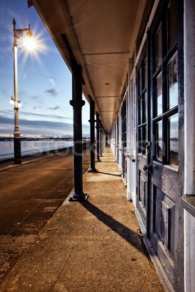 Victorian Promenade Beach Huts Stock photo © ollietaylorphotograp