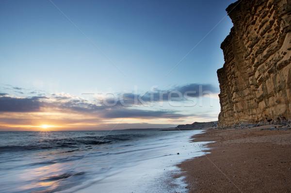 Batı sahil İngiltere güney İngilizce Stok fotoğraf © ollietaylorphotograp