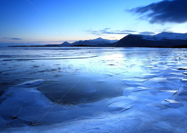 Buz arazi dağlar dondurulmuş İzlanda tan Stok fotoğraf © ollietaylorphotograp