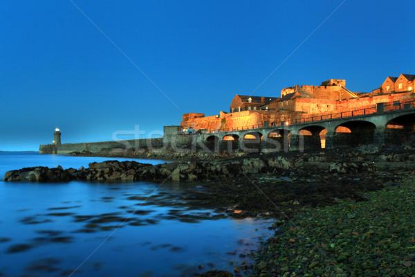 Château île Royaume-Uni canal eau bâtiment Photo stock © ollietaylorphotograp