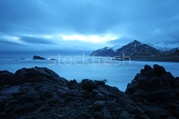 Stormy sea in south east iceland Stock photo © ollietaylorphotograp