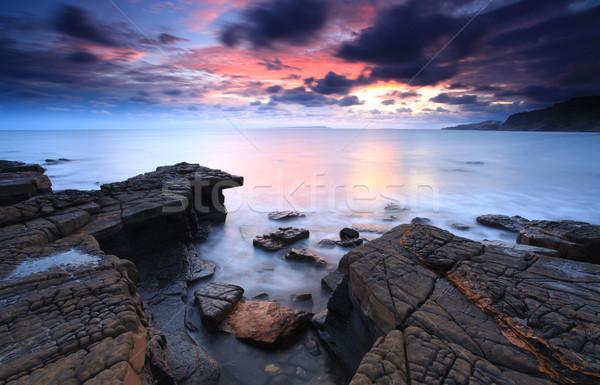 Güneş ışığı güney İngilizler sahil hat plaj Stok fotoğraf © ollietaylorphotograp