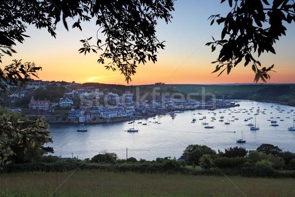 Salcombe Estuary Sunset Stock photo © ollietaylorphotograp