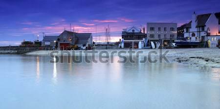The Cobb in Lyme Regis at sunset Stock photo © ollietaylorphotograp