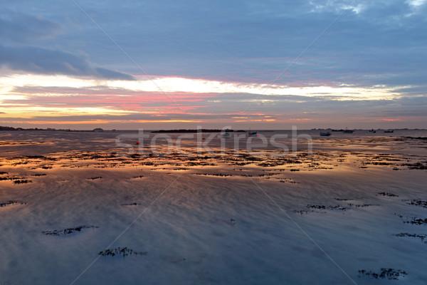 Kanal Büyük Britanya gökyüzü deniz seyahat Stok fotoğraf © ollietaylorphotograp