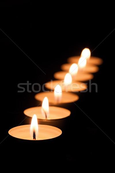 Stock photo: Many tea candles
