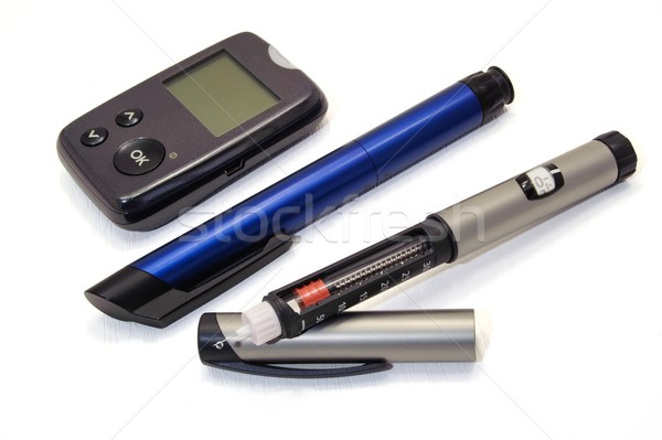 Insulin pen and glucometer Stock photo © ondrej83