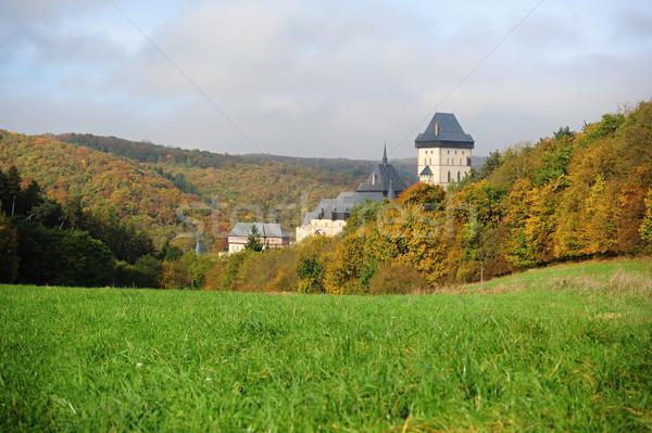 Château belle automne paysage soleil Photo stock © ondrej83