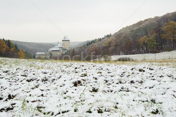 зима замок мнение пейзаж путешествия рок Сток-фото © ondrej83