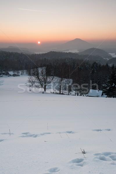Inverno panorama Svizzera neve gelo Foto d'archivio © ondrej83