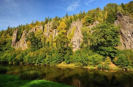 Rock above the river Stock photo © ondrej83