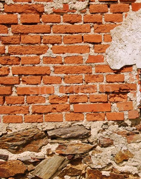 古い 壁 レンガの壁 石 背景 フレーム ストックフォト © ondrej83