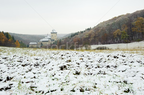 зима замок мнение пейзаж путешествия стране Сток-фото © ondrej83