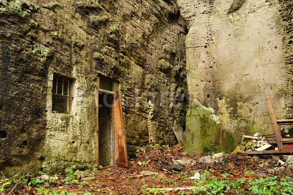 岩 古い 入り口 固体 壁 戦争 ストックフォト © ondrej83