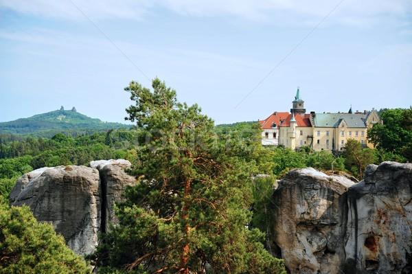 Piękna zamek wysoki Urwisko Czechy Zdjęcia stock © ondrej83