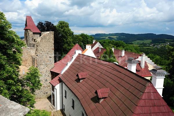 Roofs under the castle Stock photo © ondrej83