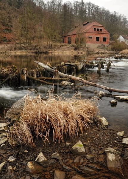 старом доме реке руин небе воды пейзаж Сток-фото © ondrej83