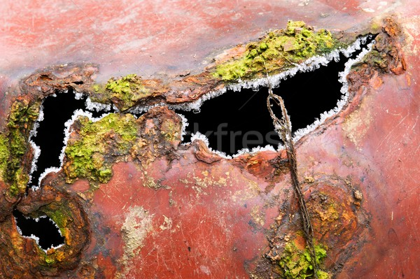 Detail of old rusted sheet metal pots Stock photo © ondrej83