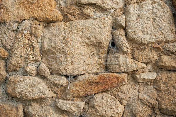 Oude beschadigd muur steen baksteen achtergrond Stockfoto © ondrej83