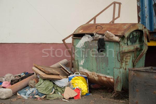Konténer szemét részletes kilátás öreg szeméttelep Stock fotó © ondrej83
