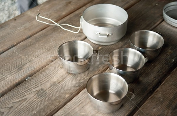 Tin cups  Stock photo © ondrej83